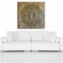 Obrazy - STROM ŽIVOTA (drevo + gold) 100 x 100 - 10870300_
