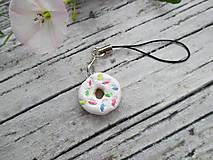 Kľúčenky - Sladký donutík - prívesok (Vanilkový) - 10869502_