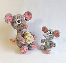 Návody a literatúra - Myšky - návod na háčkovanie - 10870349_