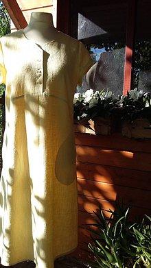 Šaty - V slnečných lúčoch - ľanové šaty - 10870853_