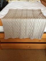 Textil - Detská pletená deka s osmičkami - 10869871_