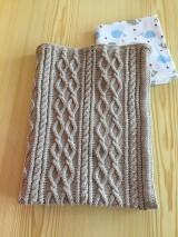 Textil - Detská pletená deka s osmičkami - 10869872_