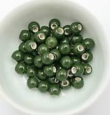 KE101 Keramická korálka 6 mm (Tmavo zelená)