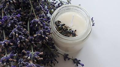 Svietidlá a sviečky - Sviečka zo sójového vosku - Levanduľa - 10869345_