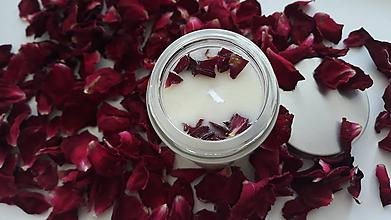 Svietidlá a sviečky - Sviečka zo sójového vosku - Ružové drevo - 10869368_