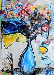 Obrazy - Kytica abstrakt - 10869077_