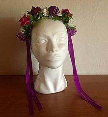 Ozdoby do vlasov - Čelenka so saténovými púčikmi ruží - 10868704_