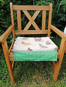 Úžitkový textil - Podsedák na stoličku - 10870157_