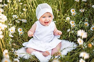 Detské čiapky - Baby čepček madeira ivory - 10871596_