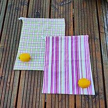 Úžitkový textil - Zero waste sada  (2 mentolové vrecúška) - 10868643_