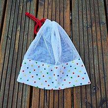 Úžitkový textil - Zero waste Aj aj vrecúško  (Srdiečka) - 10868667_