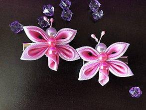 Ozdoby do vlasov - Sponky motýlik - 10870402_