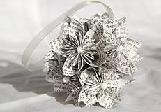 Kytice pre nevestu - Guľa z papierových kvetov (rôzne farby) - 10870902_
