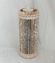 Svietidlá a sviečky - Vintage sviečka vyrobená z knihy - 10870151_