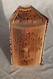 Dekorácie - Strom a ornament - vyskladané z knihy - 10870895_