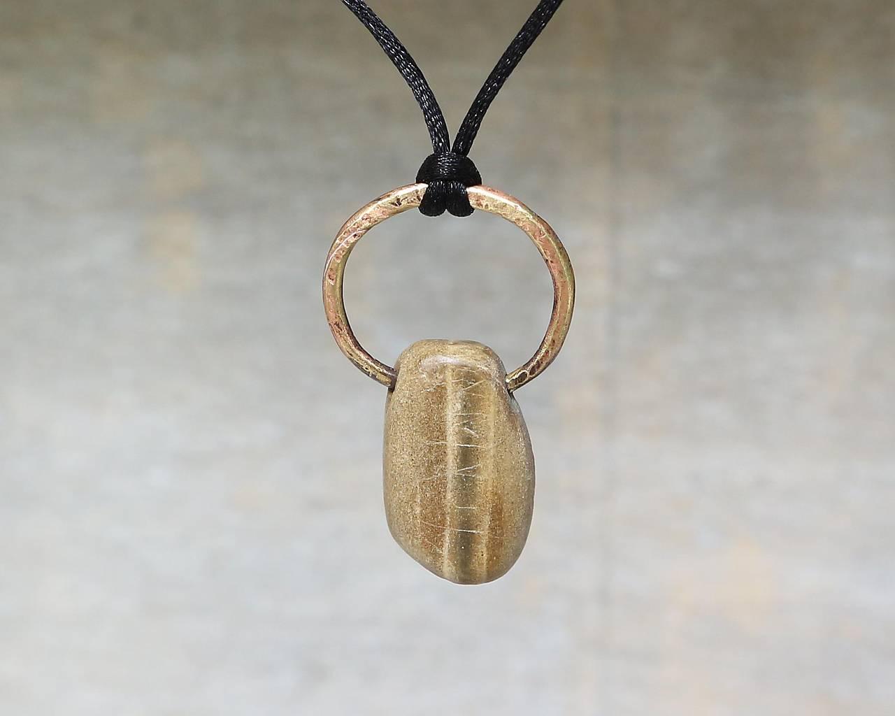Náhrdelníky - S pruhom - kamenný prívesok - 10871623_