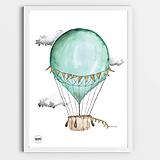 Detské doplnky - Art Print - mentolový balón - 10870836_