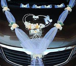 Dekorácie - Svadobná výzdoba na auto-marhuľková - 10870590_
