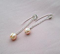 Náušnice - perla - 10870491_