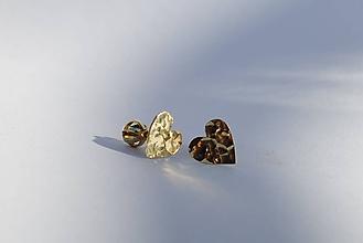 Náušnice - Tepané ♥♥ zlaté žlté - 10872011_