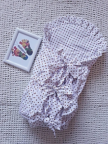 Textil - Perinka s červenými bodkami - 10873850_