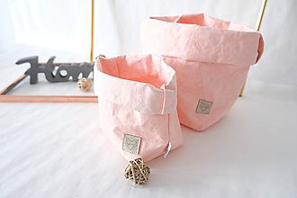 Košíky - Big home bag Pink - 10874152_