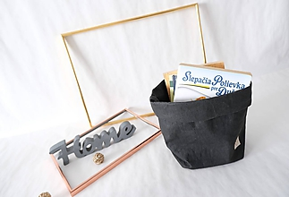 Košíky - Big home bag Black - 10874258_