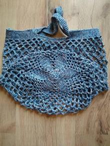 Nákupné tašky - Sieťovka melírová (Modrá) - 10873669_
