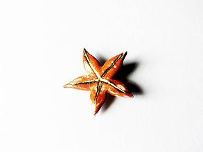 Odznaky/Brošne - červená brošnička/keramika/ - 10873757_