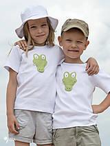 Detské oblečenie - tričko KRODODÍL 86 - 134 (dlhý aj krátky rukáv) - 10874414_