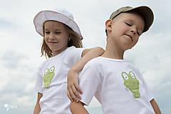 Detské oblečenie - tričko KRODODÍL 86 - 134 (dlhý aj krátky rukáv) - 10874424_