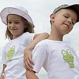 Detské oblečenie - tričko KRODODÍL 86 - 134 (dlhý aj krátky rukáv) - 10874425_