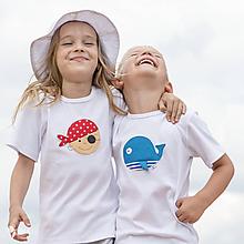 Detské oblečenie - Set 2x detské tričko VEĽRYBA a PIRÁT VENDELÍN 86 - 134 (dlhý aj krátky rukáv) - 10874085_