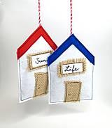 Dekorácie - Levanduľová dekorácia: Domček pri mori - 10873480_
