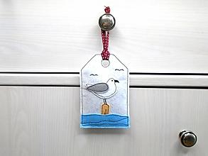 Dekorácie - Levanduľová dekorácia s prímorským dizajnom (Čajka) - 10873549_