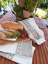 Úžitkový textil - Darčeková sada ľanových kuchynských doplnkov - 10873585_
