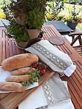 Úžitkový textil - Darčeková sada ľanových kuchynských doplnkov - 10873586_