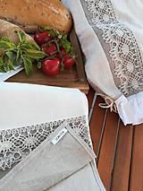 Úžitkový textil - Darčeková sada ľanových kuchynských doplnkov - 10873587_