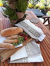Úžitkový textil - Darčeková sada ľanových kuchynských doplnkov - 10873588_
