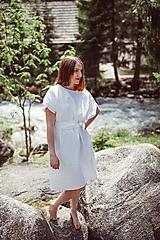 Šaty - Zero waste ľanové šaty - 10874837_