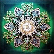 Dekorácie - Mandala...Kvet zdravia a centra sily - 10873213_