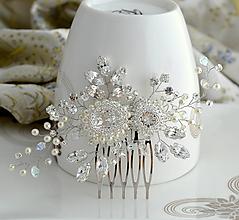 Ozdoby do vlasov - Diamond Pearl Explosion hrebienok - 10873469_