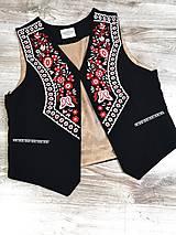 Oblečenie - pánska vyšívaná vesta Slavianka - 10872130_