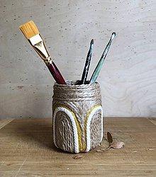 """Dekorácie - Malia"""" recyklovaná váza,nádobka - 10871943_"""