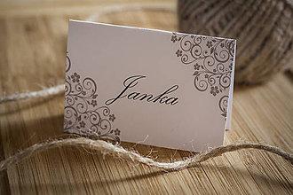 Papiernictvo - Menovka na stôl - Ornament - 10874441_