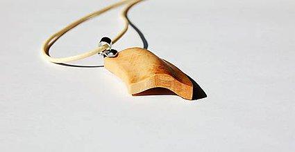 Náhrdelníky - Drevený náhrdelník - Buková vlnka - 10874001_