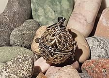 """Polotovary - Difúzer """"klietkový"""" - Zlato-strieborný s ornamentmi - 10871759_"""