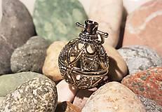 """Polotovary - Difúzer """"klietkový"""" - Zlato-strieborný s jemnými ornamentmi - 10871761_"""