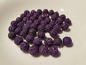 Korálky - Guličky z Lávového kameňa - fialové - 10871657_