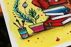 Kresby - Slečna rastlinkárka - originál - 10873010_